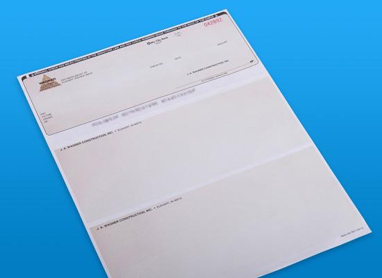 printed laser checks