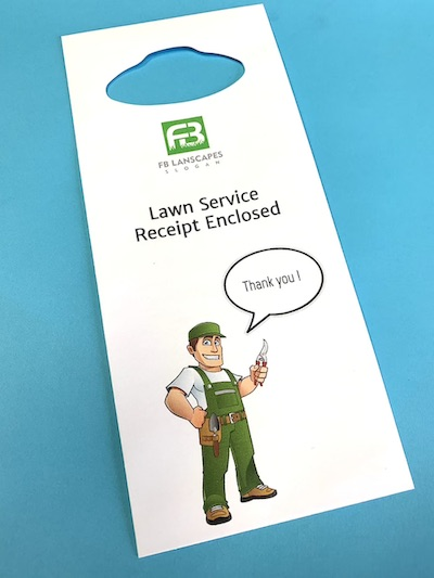 Custom Printed Door Hanger Envelopes