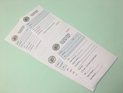 Printed Parking Ticket / Jewlery Envelopes