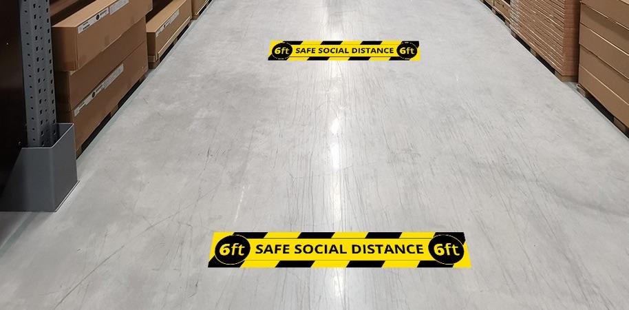 Floor Distancing Strips
