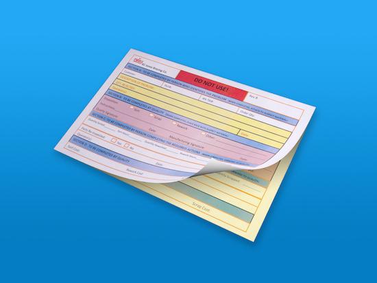 Custom Carbonless Forms Carbon Copy Paper Full Color